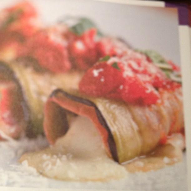 aubergines roulées à la mozzarella